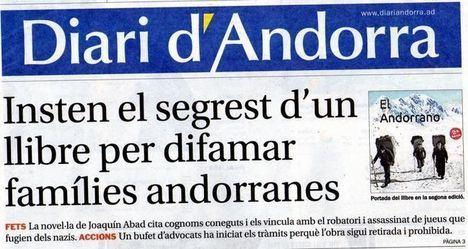 ¿Por qué quieren secuestrar 'El andorrano', de Joaquín Abad?